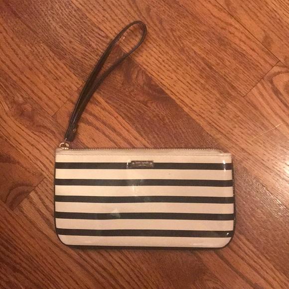 kate spade Handbags - Striped Kate Spade wristlet